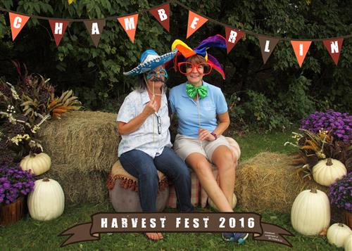 Principal Rouelle and Ms. Dattilio at the Chamberlin Harvest Fest