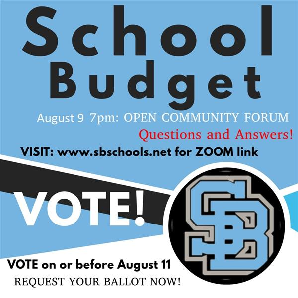 August 9 community forum on the budget via Zoom and RETN at 7 pm